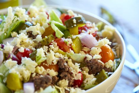 Cheeseburger Chopped Salad