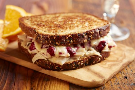 Turkey and Cranberry Grilled Cheese Sandwich